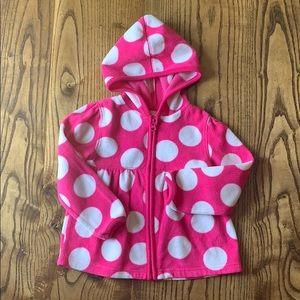 Toddler girls zip-up hoodie